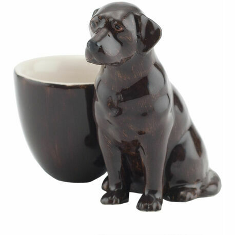 Quail Ceramics Chocolate Labrador Ceramic Egg Cup