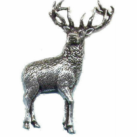 Bisley Pewter Lapel Pin in Presentation Box - Stag