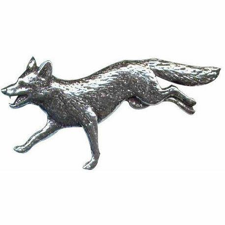 Pewter Lapel Pin - Running Fox