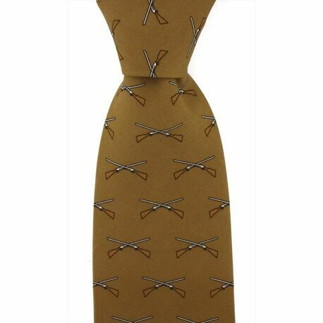 Brown Shotgun Country Silk Tie