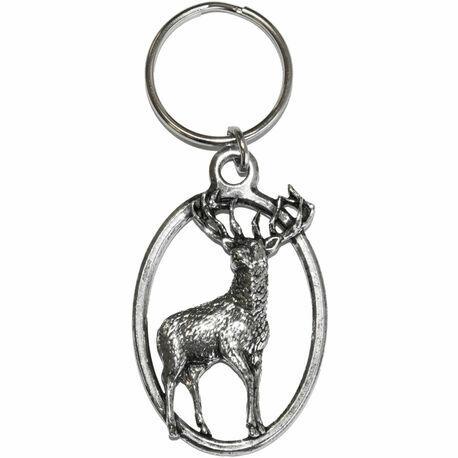 Pewter Stag Key Ring