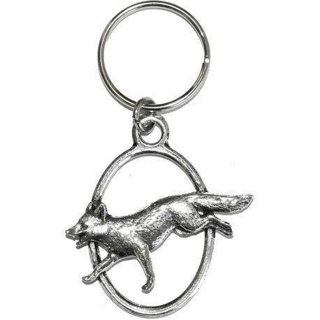 Pewter Fox Key Ring
