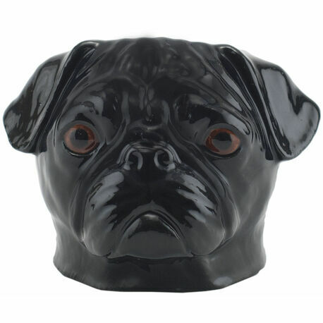 Black Pug Face Egg Cup