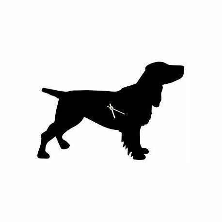 The Labrador Company Black Spaniel Dog Clock With Wagging Tail