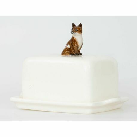 Quail Ceramics Fox Butter Dish