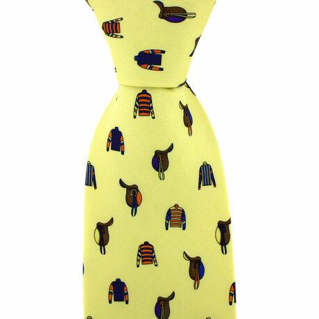 Yellow Jockey Country Silk Tie