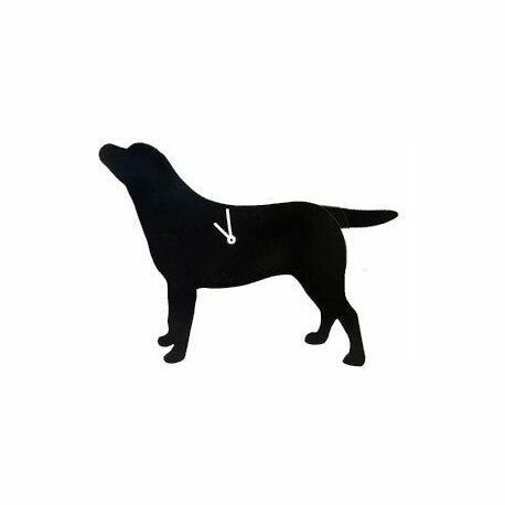 Black Labrador Wagging Tail Wall Clock