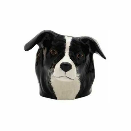 Quail Ceramics Border Collie Face Egg Cup