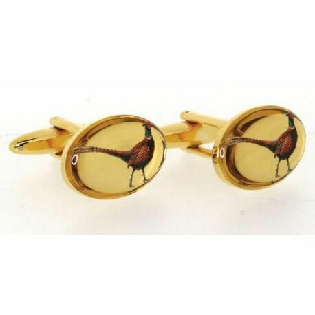 Standing Pheasant Country Cufflinks