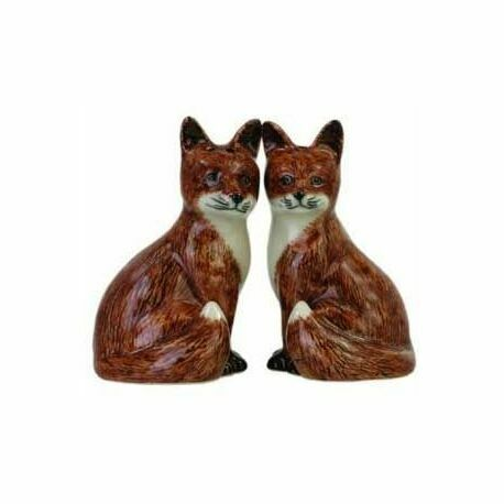 Quail Ceramics Fox Salt & Pepper Shaker Pots