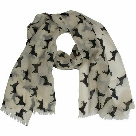 The Labrador Company Spaniel Cashmere/wool Scarf