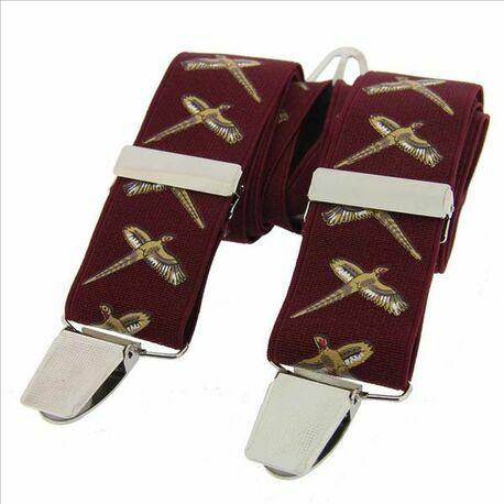 Burgundy Flying Pheasant Classic 35mm Braces